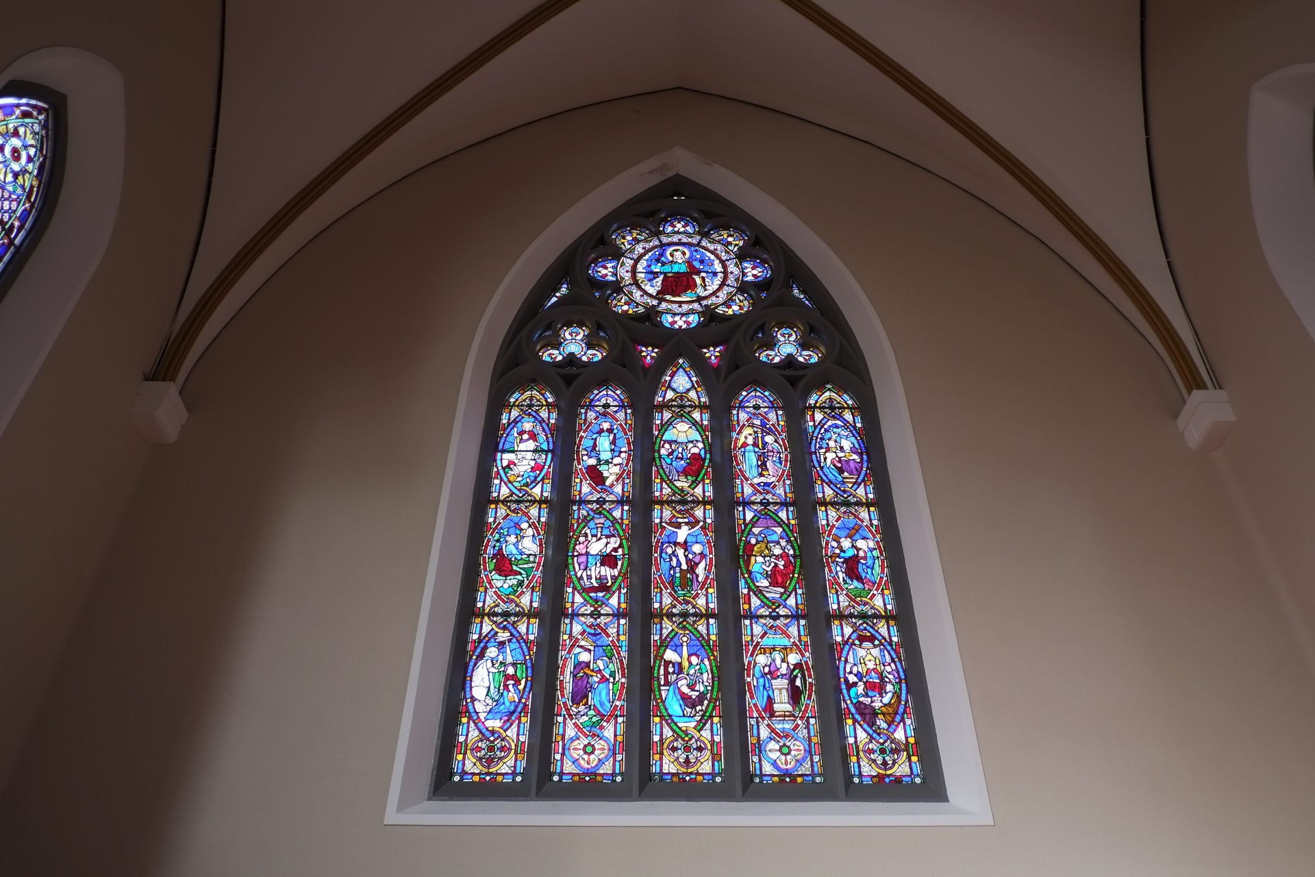 The rosary window
